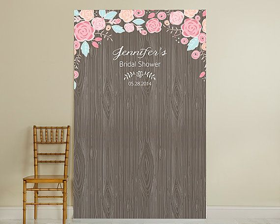 Rustic Wood Personalized Photo Booth Backdrop By Nyweddingfavors