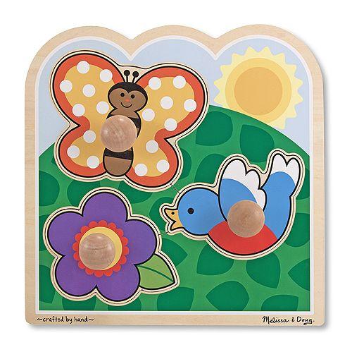 In The Garden Jumbo Knob Puzzle - 3 Piece | Melissa & Doug
