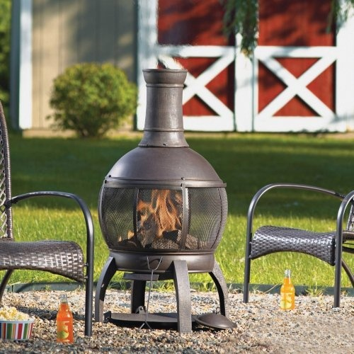 Living Accents Cast Iron Chimenea With Poker By Living