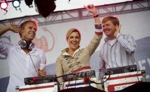 Armin van Buuren draaide voor koning Willem-Alexander en prinses Maxima.