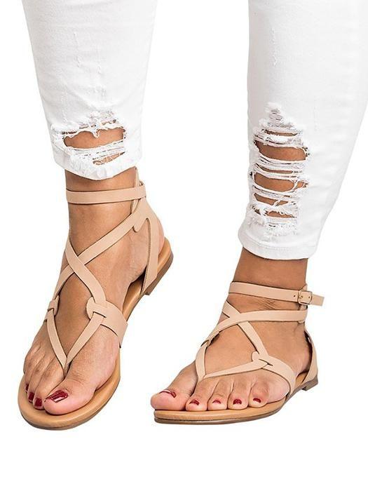 1e6536d194e2 New Style Ankle Strap Sandals