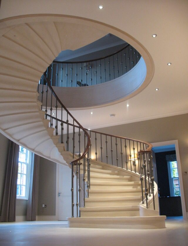 Amazing Stairs Part - 22: Traditional Staircase By Stone Federation Great Britain