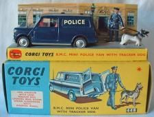 Buy, Sell and Value Corgi model 448,  Police Mini Van in Blue - Corgi Price Guide #746