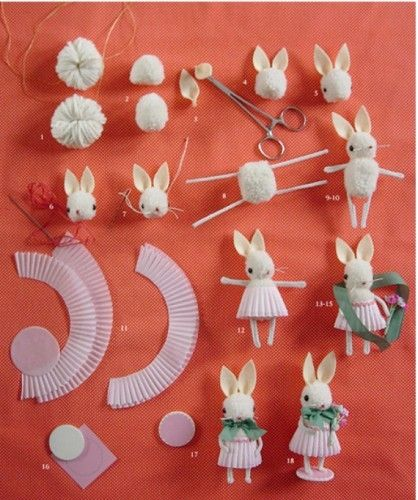 I want to make these with our girls this Summer. What a cute craft~: Rabbit, Bunnies Crafts, Pompom, Easter Crafts, Easter Bunnies, Diy Tutorials, Kids Crafts, Pom Pom, Cupcake Liner