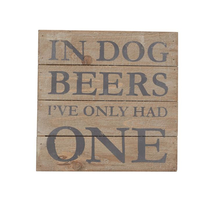 Our cheeky In Dog Beers plaque is the ideal gift for the beer lover in your life! Whether it's hung front and center in a home bar, game room or kitchen, it's sure to get a laugh! This distressed wood planked, shadow-box style plaque has a fun, rustic feel to it that will look great in any home.
