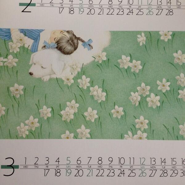 kimiko @byasakai  1989年カレンダー1.2.3.4月