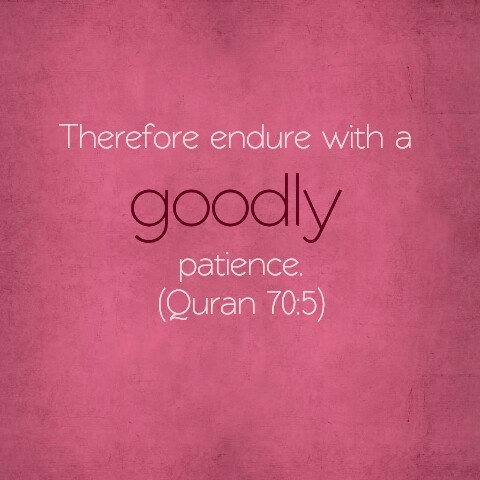 Patience. Holy Qur'an.