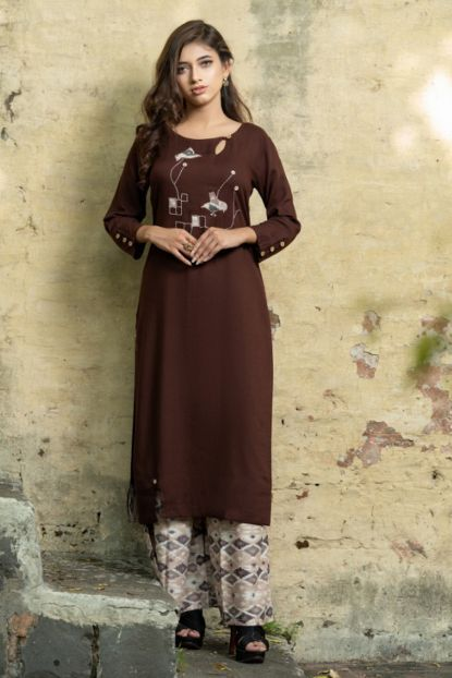 db04e29541 Wholesale Party Wear Kurti | Wholesale Party Indian Wear Rayon Long Length  Patch Work Kurti With Plazzo Collection