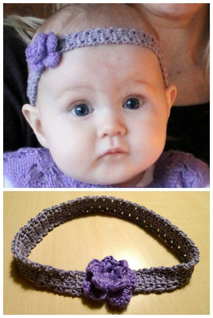 Et hæklet hårbånd til den sødeste lille pige.  [Crochet Headband, DIY]