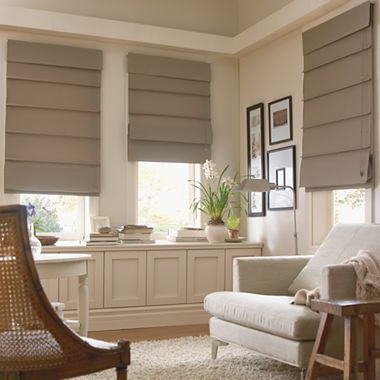 Savannah III Roman Shades from JC Penny, replace those apartment blinds for only $15