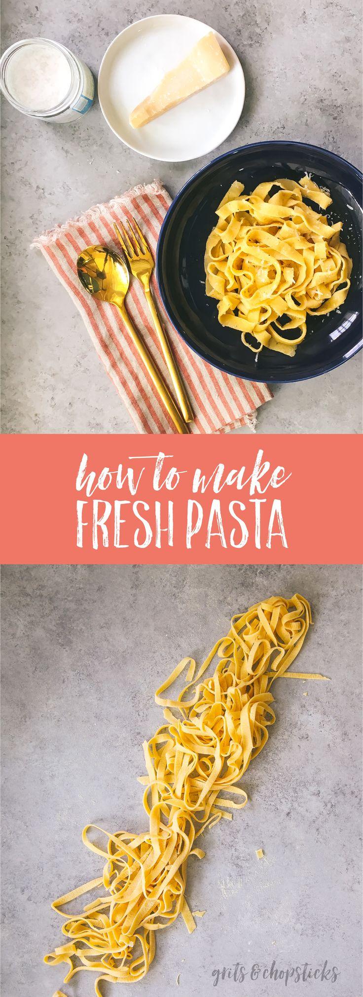 making fresh pasta without a machine