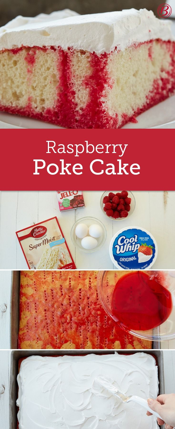 "Poke around your cupboard and freezer and you'll probably find everything you need to make a classic ""poke"" cake. Some things just get easier."