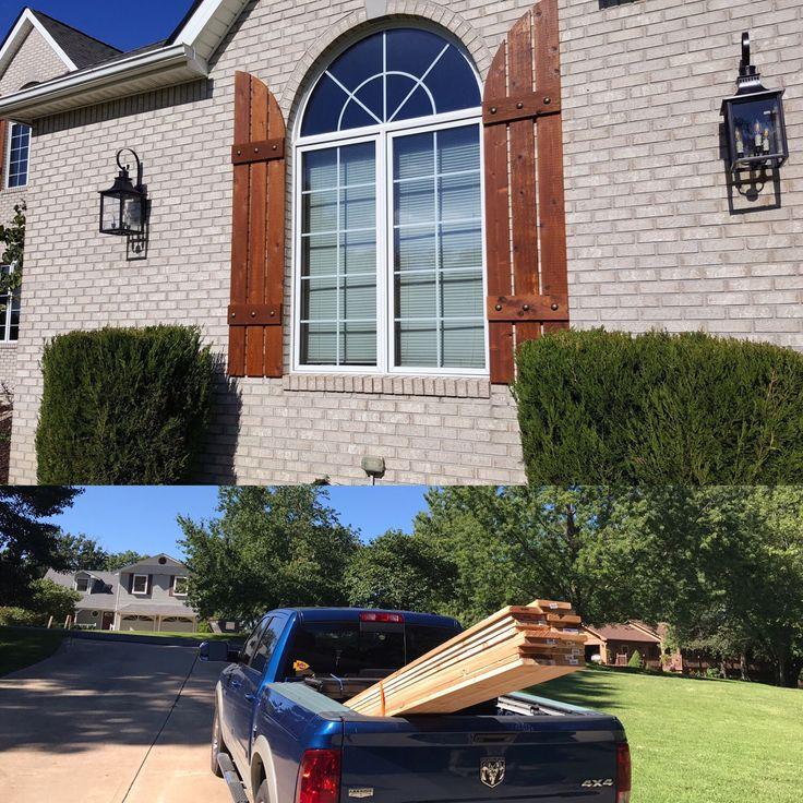 Cedar shutters exterior shutters board and batten