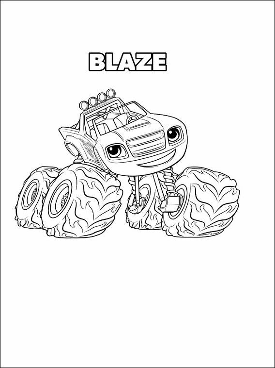 Blaze And The Monster Machines Coloring Pages For Kids 8 Monster Coloring Pages Monster Truck Coloring Pages Cartoon Coloring Pages