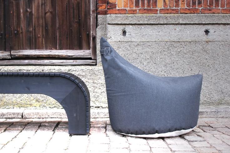 "TRIMM Copenhagen ""Lounge satellite"" lounge chair in black canvas"