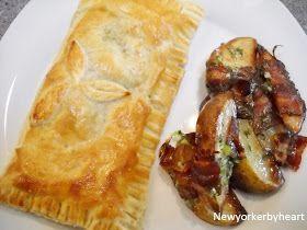 Indbagt laks med spinat, flødeost og lime - dertil bacon-kartofler med honning og forårsløg........