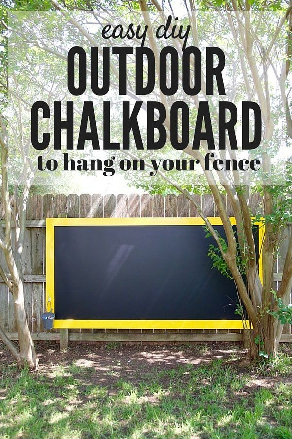 DIY Fence chalkboard. A super quick and simple project that will create hours and hours of fun for your kids!