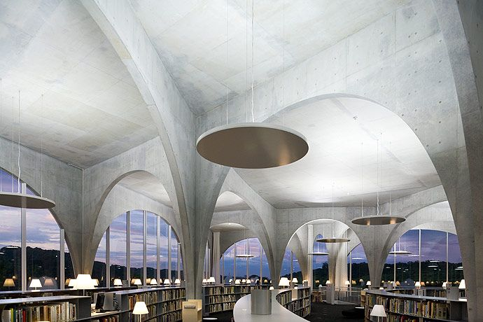 Hachioji Library, Tama Art University | Toyo Ito & Associates, Architects | Tokyo, Japan | photo: Iwan Baan