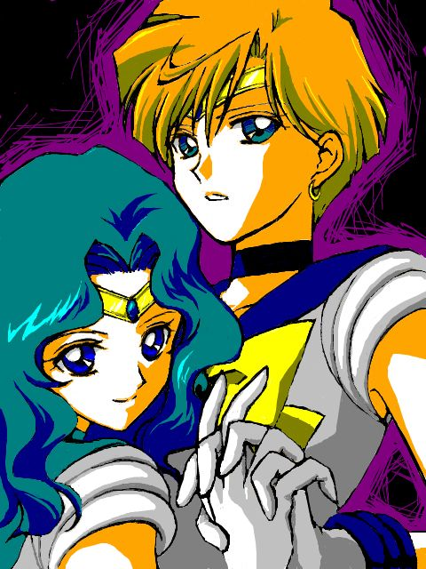 Sailor Moon Uranus And Neptune Kiss - Pics about space