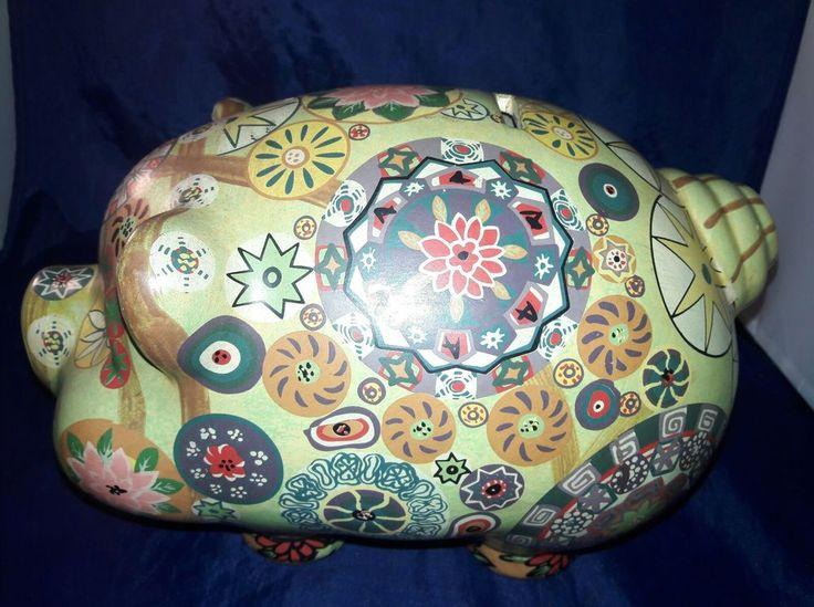 Vintage Handpainted Large Piggy Bank - Coin Bank | Collectibles, Banks, Registers & Vending, Still, Piggy Banks | eBay!