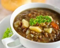 Receta de Cocina: Sopa de lentejas con ajo
