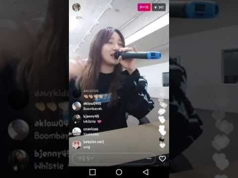"""[INFO] 170327 Former YG Trainee/The Ark member Euna Kim covered BLACKPINK's """"WHISTLE"""" on her Instagram Live!"""