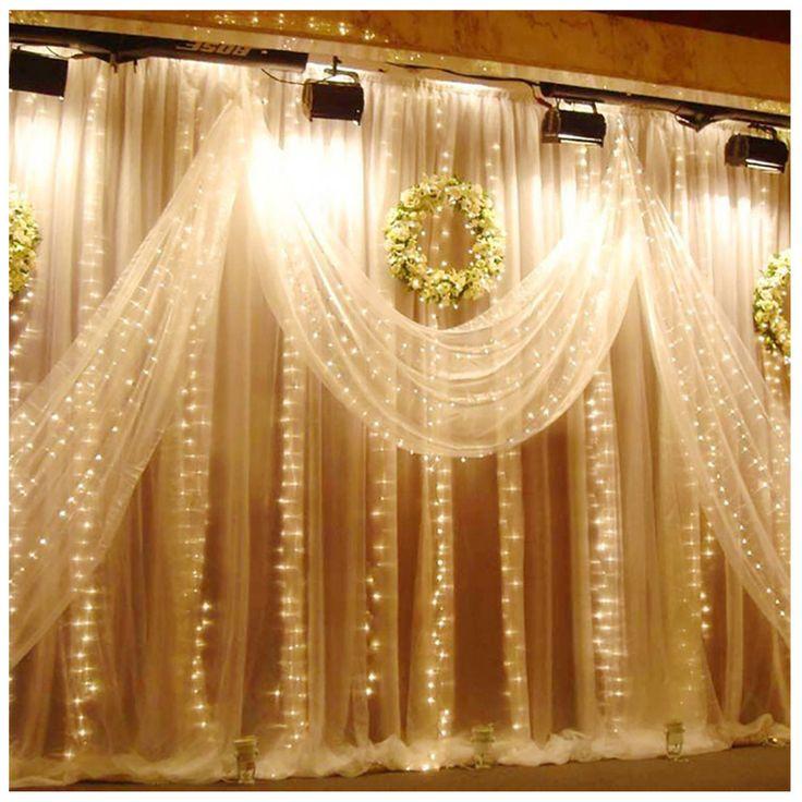 Aliexpress.com :  Wasserdichte 6 Mt x 3 Mt 600 LED Hochzeit Licht eiszapfen Weihnachten licht LED String Fairy Glühbirne Geburtstag Party Garten Vorhang Decor von verlässlichen curtains for door windows-Lieferanten auf BITFLY dogood. Store kaufen