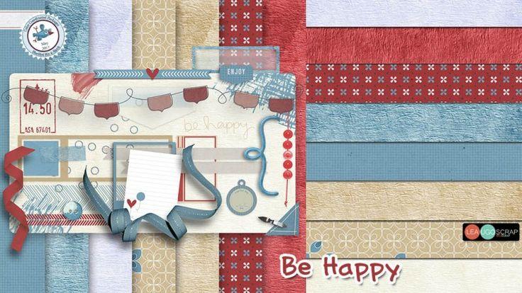 Be Happy by LeaUgoScrap - Blue Bird Mix & Match