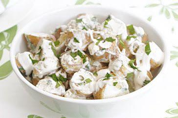 Tahini & yogurt potato salad recipe