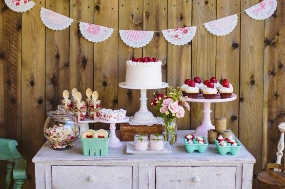 The TomKat Studio: Avery's Sweet Strawberry Birthday Party