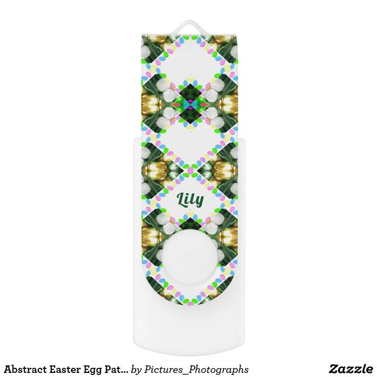 Abstract Easter Egg Pattern ~Personalised LILY ~ USB Flash Drive