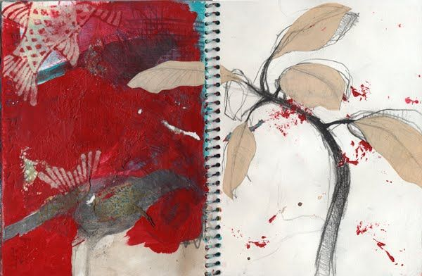 Paintings by Tifenn Python: A collection of sketches in a small book