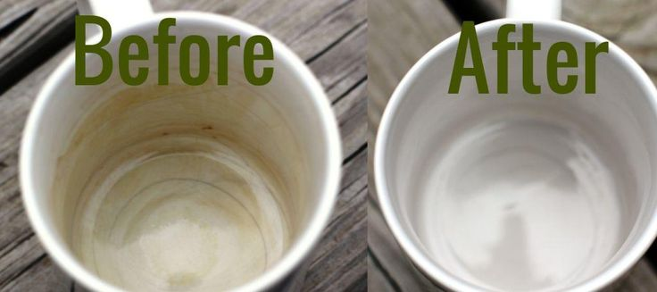 Clean Coffee Stains from Mugs