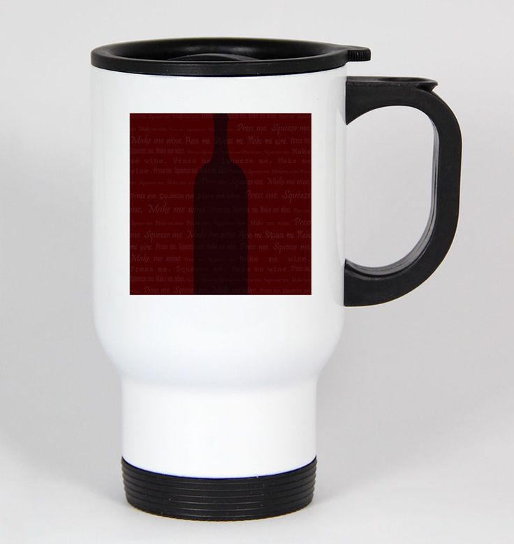Red Wine #104 - Funny 14Oz White Travel Mug Red White Vino Syrah Italy