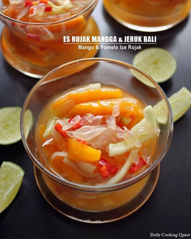 #EsRujakManggadanJerukBali – #Mango 🥭and #Pomelo🍈 #IceRojak recipe from da…
