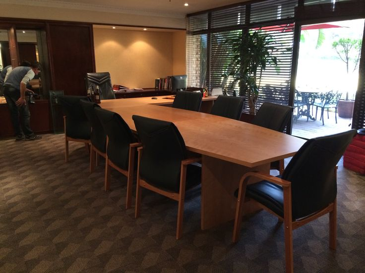AFTER Executive Office SAB - SM Boardroom Table Designed,Manufactured and Installed by Interior Decor & Design