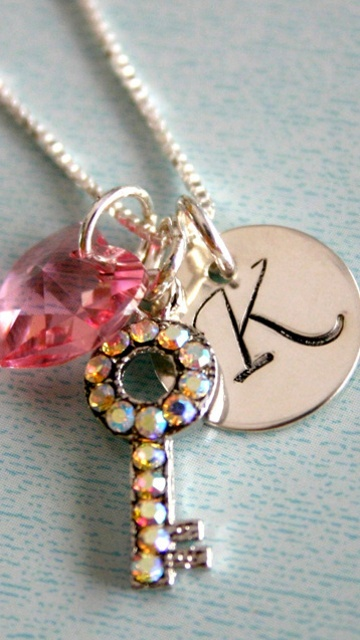letter K profile picture...: Grand Daughters, Kathy, Charms, Kimberly, Letters K, Profile Pictures, Keys Crystals, Necklace, Letter K