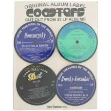 Vintage Record Coasters $29.95 - Funky coasters made from original 33LP albums #record #recordcoasters #coasters #LPrecord