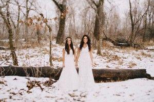 2 mariées au jour neigeux