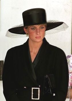 Diana, Princess of Wales attends her father, Earl Spencer's funeral.