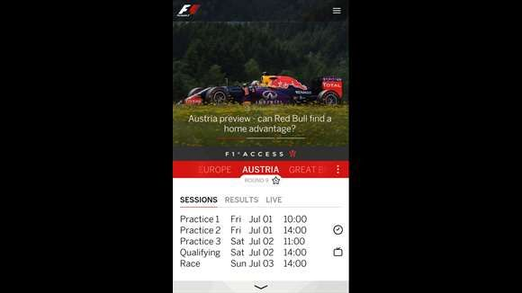 Windows Phone Mauritius: F1 official app for Windows updated.
