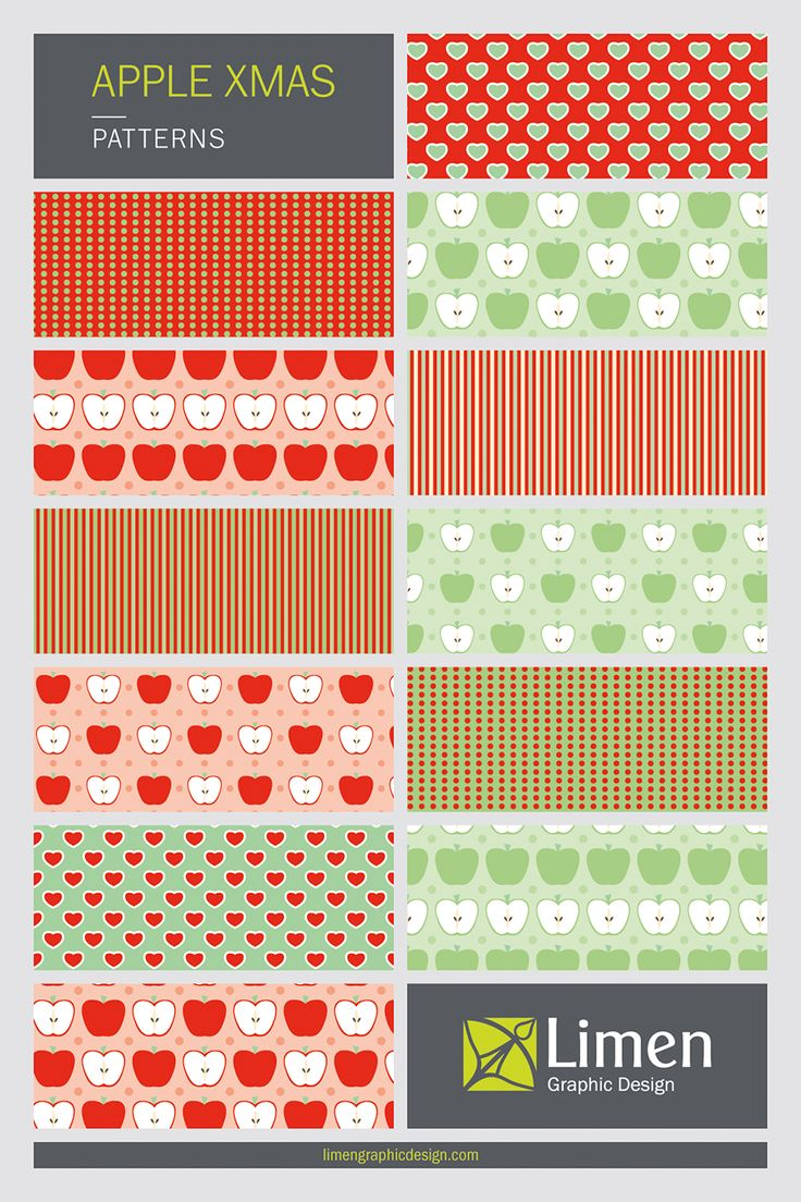 Are you preparing for Christmas?!? You can start creating wonderful products with my Sweet Apple Christmas patterns. Find this collection and many more in my site :)