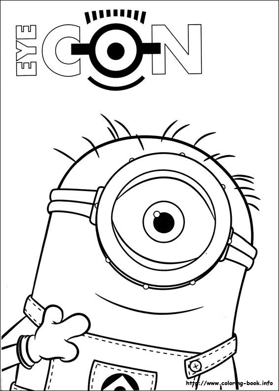 minions coloring picture  ミニオンズ ぬりえ