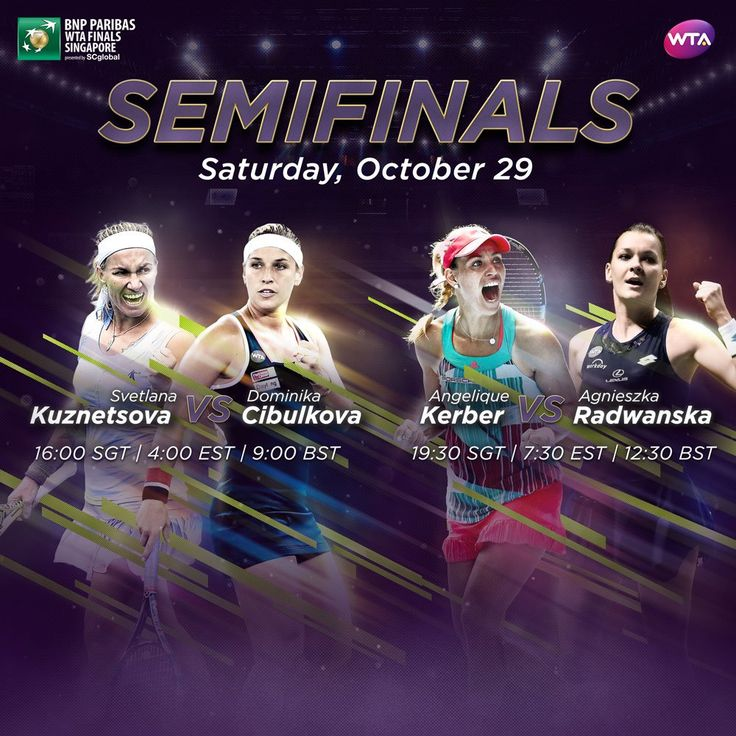 WTA (#WTA) | Twitter / #WTAFinals:#semifinals w/ 2 astro #snake #Cibulkova+#ARadwanska,how cool is that lol. 2 others:#SvetlanaK27 #Kuznetsova (reached semi 1st of all)+#Kerber