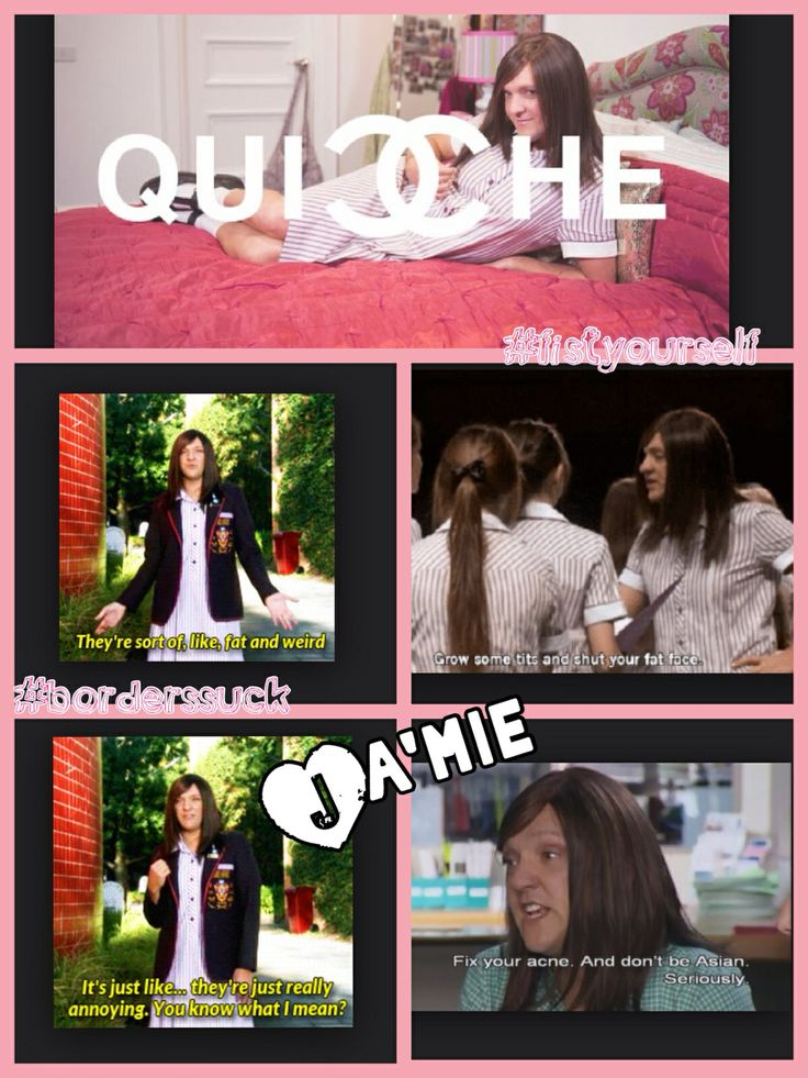 Ja'mie private school girl. haha seriously the dumbest but most hilarious show.. must watch at least one episode lol