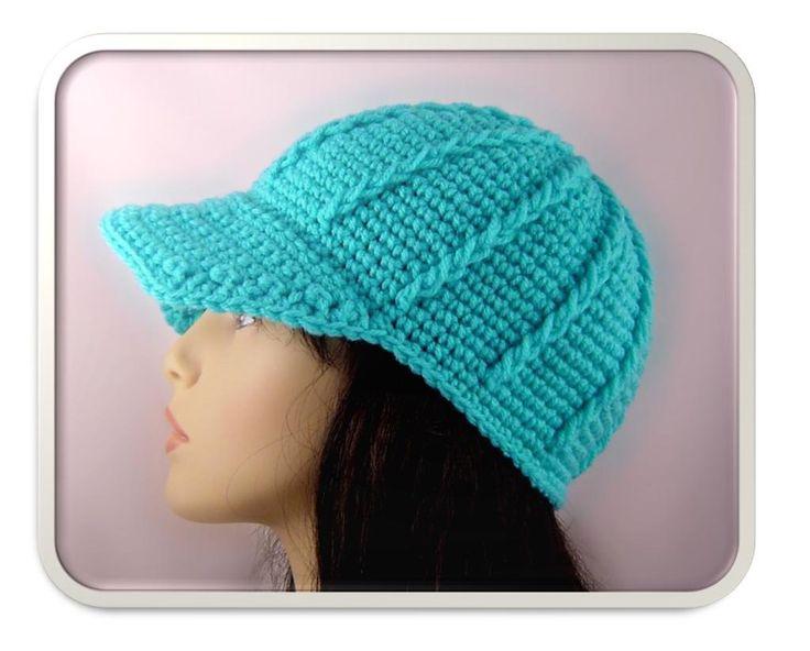 (4) Name: 'Crocheting : Ribbed Chunky Baseball Cap