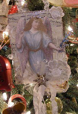 Homemade vintage ornaments