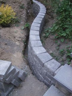 The Smiths: retaining wall
