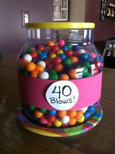 Use this as a guessing game for a birthday party. Give a prize or use the jar of gum as a surprise! I'm going to do this with personalized Big Chew (Baseball) Gum and give tickets for Missions Game as the prize