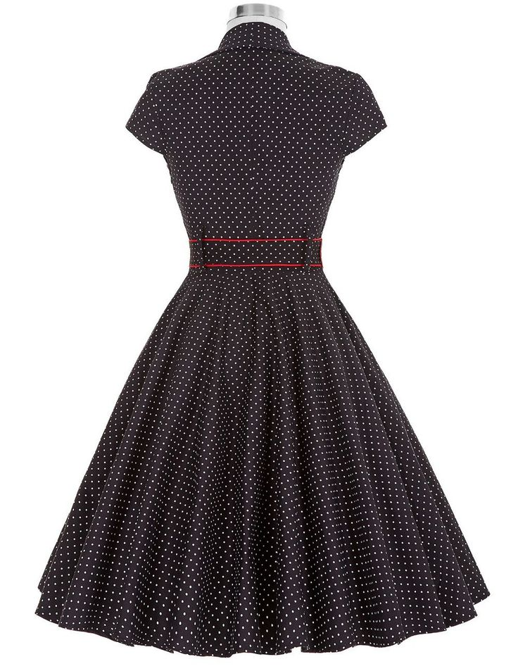 Short Sleeve Vintage Rockabilly Pin Up Dress – ZillyChic